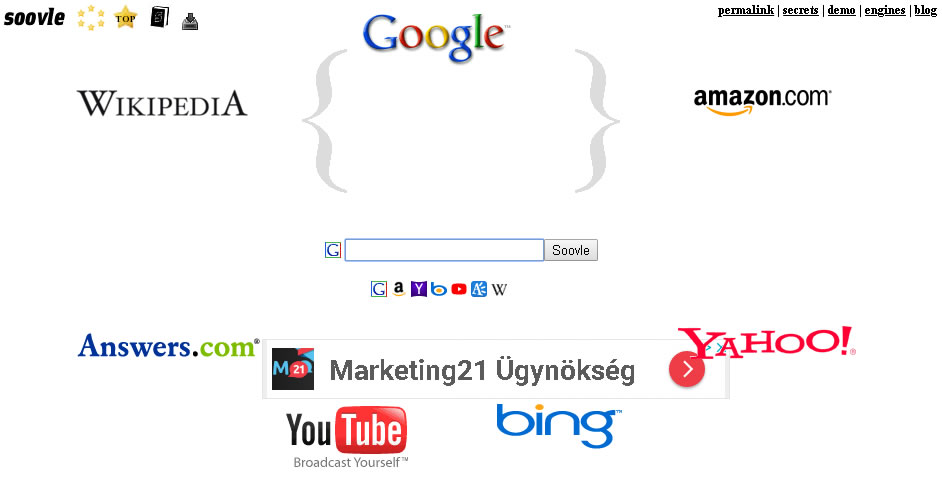 Google, Bing, Yahoo, Amazon, Wikipedia и YouTube: что в них